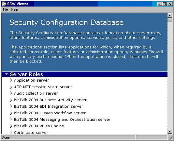 Using the Windows Server 2003 Security Configuration Wizard