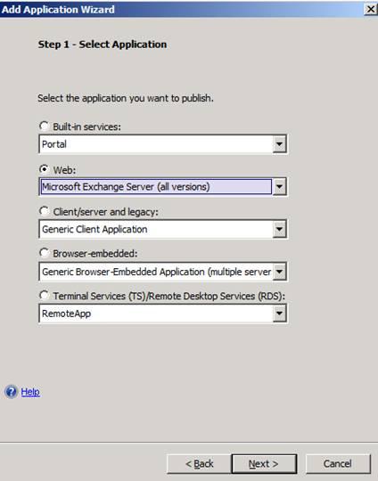 Microsoft Forefront UAG - Publishing Microsoft Exchange