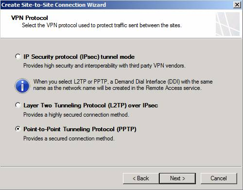 Figure 3: Select VPN-Protocol