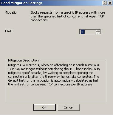 ISA Server 2006 Flood Mitigation