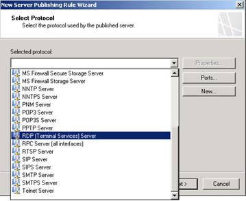 How to Publish an RDP Server on an Alternate Port using the