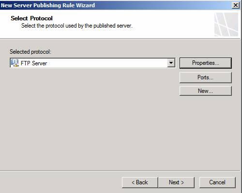 Figure 4: Publish the FTP-Server protocol