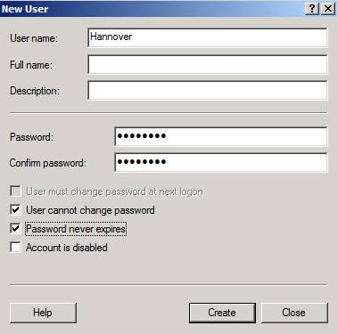 Figure 5: Remote VPN account