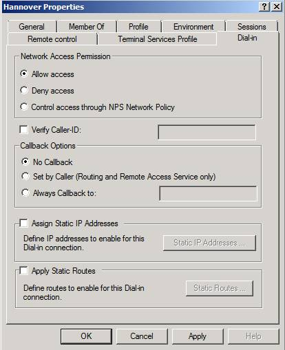Figure 6: Allow network access permission
