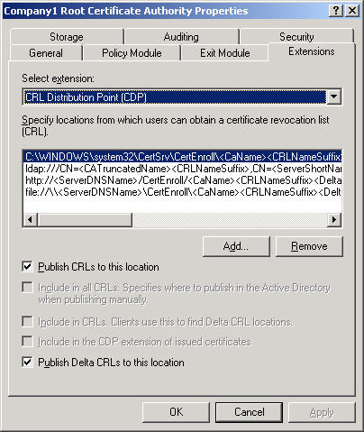 Publishing a Public Key Infrastructure with ISA Server 2004