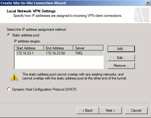 Figure 7: Specify IP address range