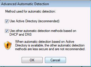 Figure 5: Advanced Automatic Detection