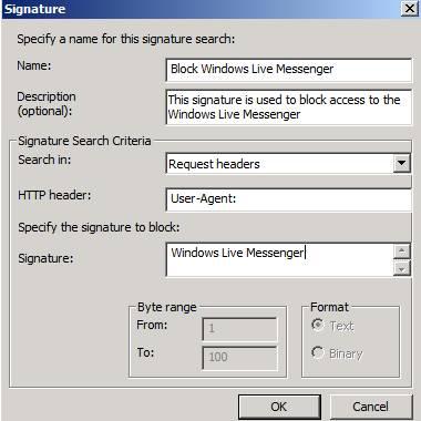 Figure 10: Windows Live Messenger Block