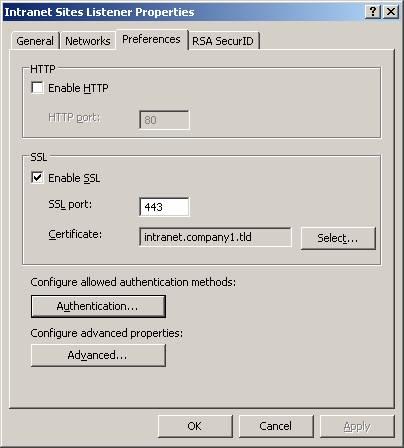 Using ISA Server 2004 RADIUS Authentication in Web