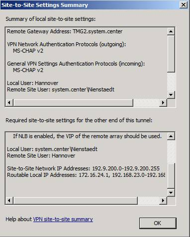 Figure 19: VPN Site-to-Site summary