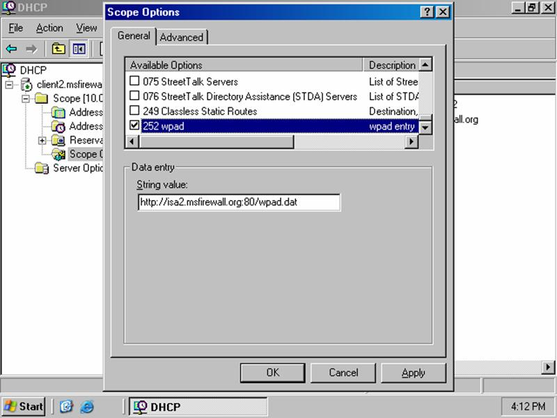 Automating ISA Server 2000 Client Configuration