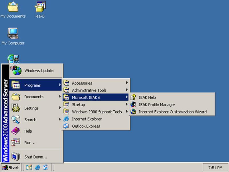 Internet Service: Internet Explorer 6 Service Pack 1