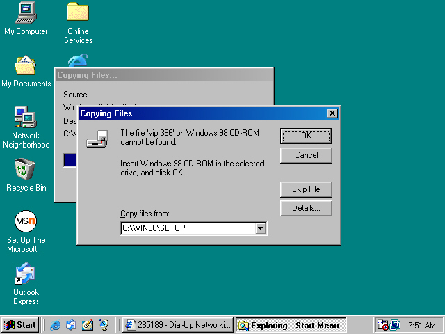 Setting Up The Windows 98 Pptp And L2tp