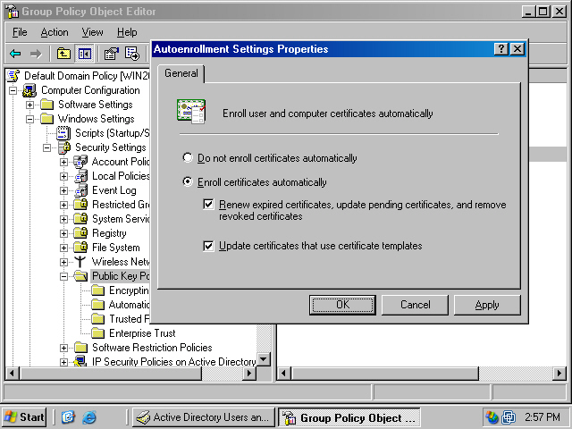 Assigning certificate to domain members via autoenrollment in a assigning certificate to domain members via autoenrollment in a windows server 2003 active directory domain yadclub