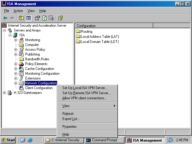 Click Next On The Welcome To ISA Virtual Private Network Configuration Wizard Page Figure 2
