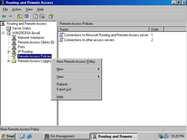 Configuring the ISA Server Firewall/VPN Server to Use RADIUS and ...