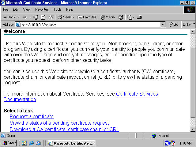 Obtaining a machine certificate via web enrollment from a windows click the advanced certificate request link on the request a certificate page figure 3 yadclub Images
